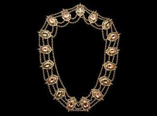 Big Necklaces Gold/Amethist/Emerald