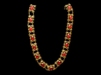 Big Necklaces Gold/Ruby