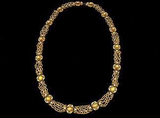 Big Necklaces Gold/Topaz