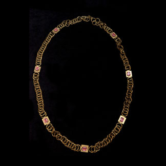 Big Necklace Gold/Amethist And Emerald 2