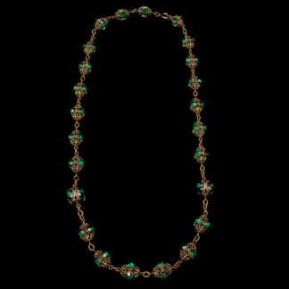 Big Necklace Gold/Amethist And Emerald 7