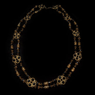 Big Necklace Gold/Jet And White 3