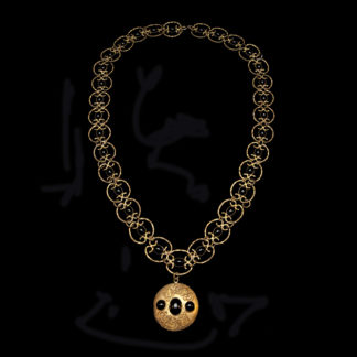 Big Necklace Gold/Jet And White 5
