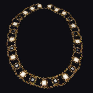 Big Necklace Gold/Jet And White 7