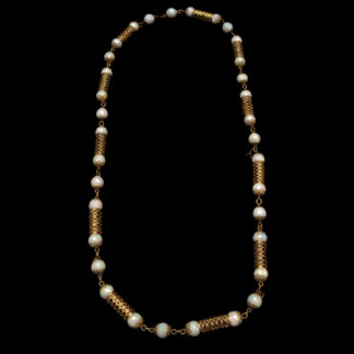Big Necklace Gold/Jet And White 9
