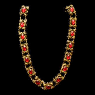 Big Necklace Gold/Ruby 1