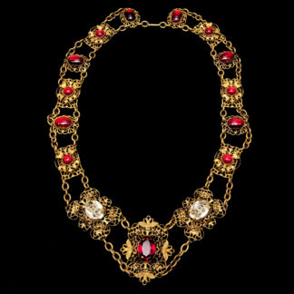 Big Necklace Gold/Ruby 11