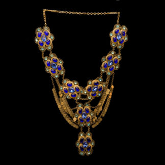 Big Necklace Gold/Sapphire And Turquoise 1