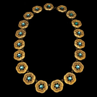 Big Necklace Gold/Sapphire And Turquoise 3