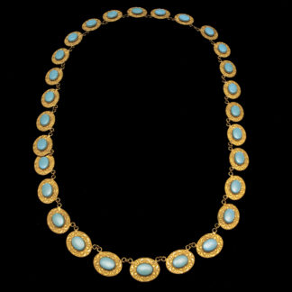 Big Necklace Gold/Sapphire And Turquoise 6