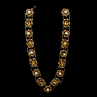 Big Necklace Gold/Topaz 2