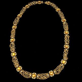 Big Necklace Gold/Topaz 4