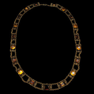 Big Necklace Gold/Topaz 5