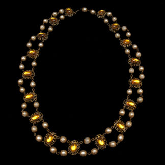 Big Necklace Gold/Topaz 7