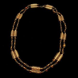 Big Necklace Gold/Topaz 8