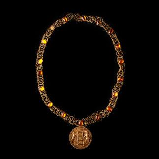 Big Necklace Gold/Topaz 9